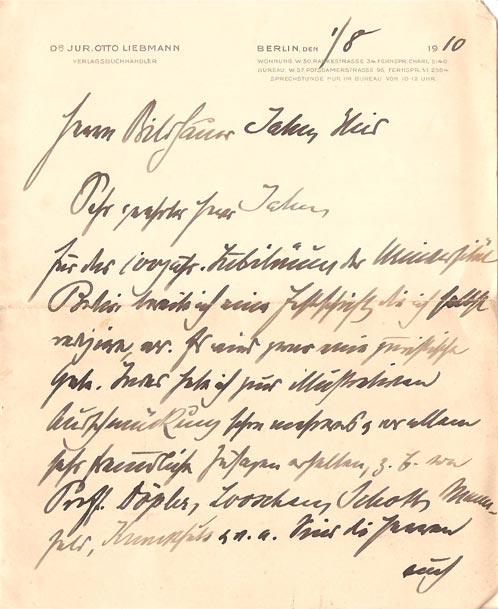 Brief Von Otto : Relief quot die arbeit